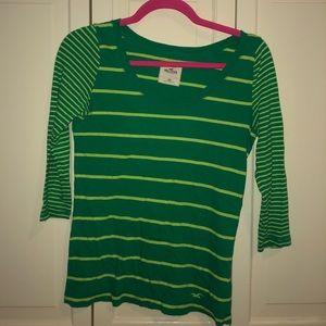 Green striped Hollister shirt